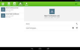 Screenshot of SendHub PBX & Conference Call