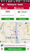 Screenshot of MyTable Restaurant Guide