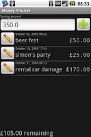 Screenshot of Money Tracker (Free)