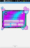 Screenshot of GO SMS - Hearts Candy Zebra 4