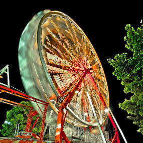 Round & Round by Pictures that Pop - City,  Street & Park  Amusement Parks ( fairground, funfair,  )