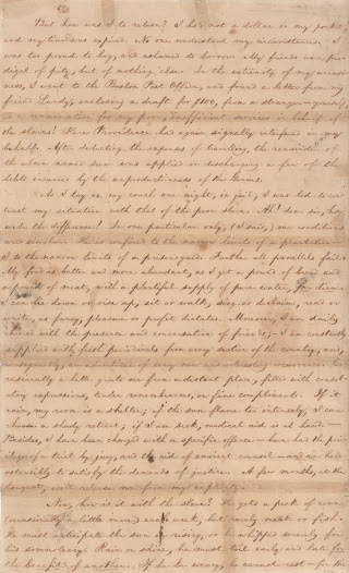 Garrison was imprisoned in 1830 for accusing a Newburyport, Massachusetts, ship captain of engaging in the illegal slave trade.  In this letter, he observes that even prison, for the white man, cannot compare to the life sentence of slavery.