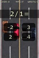 Screenshot of Race Math for kids