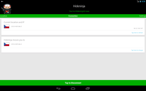 Screenshot #3 of VPN Hideninja / Android