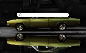 1968 Dodge Charger R/T - Black Background Reflection Droid Wallpaper