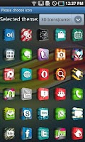 Screenshot of 3D Icons GO LauncherEX Theme