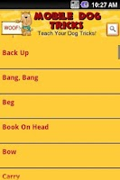 Screenshot of Mobile Dog Tricks