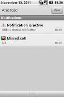 Screenshot of Notification pack