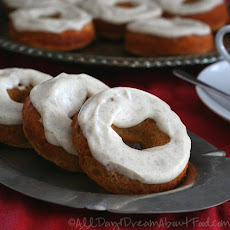 Gingerbread Donuts with Vanilla Bean Frosting