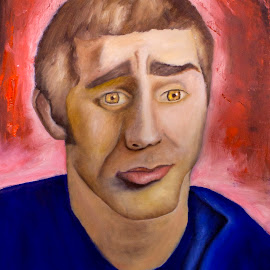 Self Portrait by Nick Higer - Painting All Painting ( cool, person, painting, people, portrait )