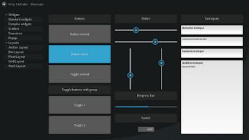 Screenshot of Kivy Launcher