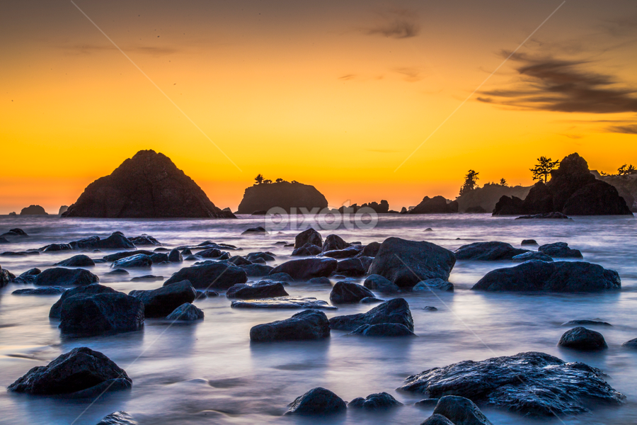 Battery by Earshel Hogan - Landscapes Sunsets & Sunrises ( vibrant, seascape, placid, sunset, pensive )