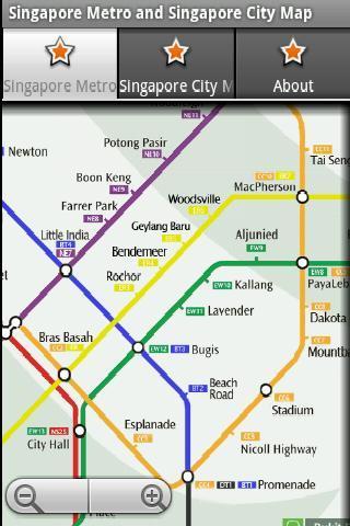 新加坡地鐵新加坡地圖