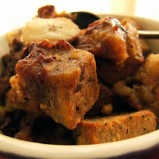 Banana Chocolate Chip Bread Pudding (Vegan)