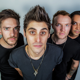 The Band by Gary Beresford - People Portraits of Men ( music, band, boy band, stare, hair )