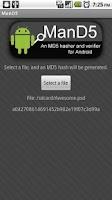 Screenshot of ManD5 Free