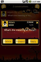 Screenshot of Easy SMS Halloween theme