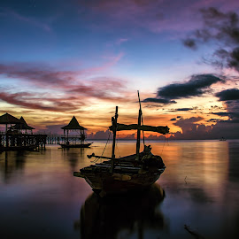 Boat in the morning by Agus Sudharnoko - Transportation Boats