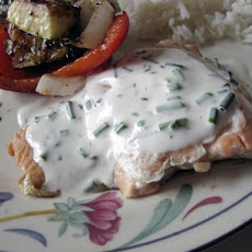 Chive Sauce for Grilled Salmon