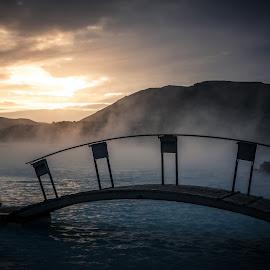 ICELAND by Jon Webb - Landscapes Travel ( water, november, 2014, blue hour, volcanic, jonwebb.net, island, iceland, lava, improve photography, geothermal, blue lagoon, ijsland, sunrise, bridge, steam, spa )
