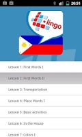 Screenshot of L-Lingo Learn Tagalog Pro