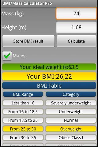 BMI Mass Calculator Pro
