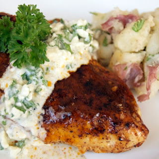 Buffalo Style Chicken Breasts w/ Bleu Cheese Sauce