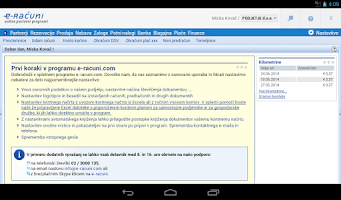 Screenshot of E-RAČUNI on-line poslovanje