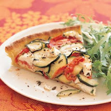 Tomato-Zucchini Tart with Goat Cheese