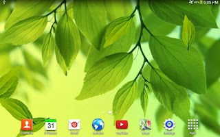 Screenshot of S4 Leaf Live Wallpaper