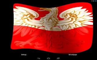 Screenshot of Poland Flag Live Wallpaper