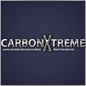 Carbon Fiber Blue GO Launcher icon