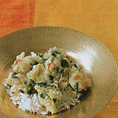 Calcutta Lobster in Spinach and Yogurt Sauce