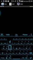 Screenshot of Ai.type Neon Blue Theme