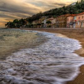 Sandy Beach in Mošćenička Draga by Siniša Biljan - Landscapes Beaches