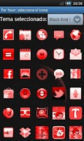 Screenshot of GO Launcher Theme Black & Red