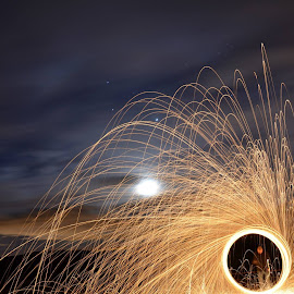 Ring of FIre by Lee Harkness - Abstract Light Painting