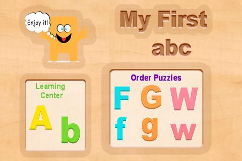 Kids abc wood puzzle