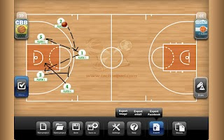 Screenshot of TacticalPad Basketball Lite