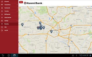 Screenshot of Hanmi Mobile Banking