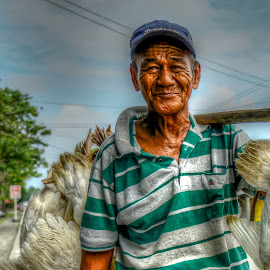 Old And Happy by Nick Foster - People Portraits of Men ( fine art, oldman, old man, senior citizen )