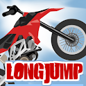long jump biker full icon