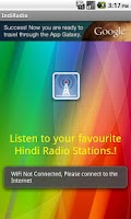 Screenshot of Online Hindi Radio