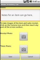 Screenshot of Home Inventory Organizer
