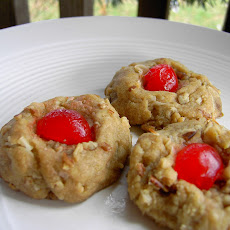 Vegan Bachelor Button Cookies