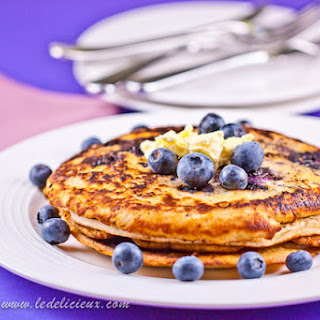 Blueberry Pancakes with Whipped Lemon Butter