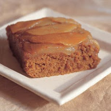 Caramelized Pear Upside-Down Gingerbread