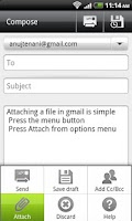 Screenshot of Attachments [Gmail Attach]