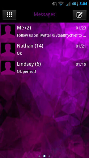 GO SMS Evil Purple Theme