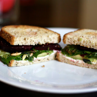 Roasted Beet, Goat Cheese, and Avocado Sandwiches